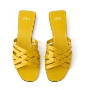 New Zara Patent leather sandals